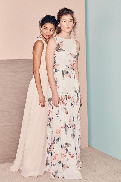 Jenny Yoo Pale Sage Multi Liz Dress | BHLDN