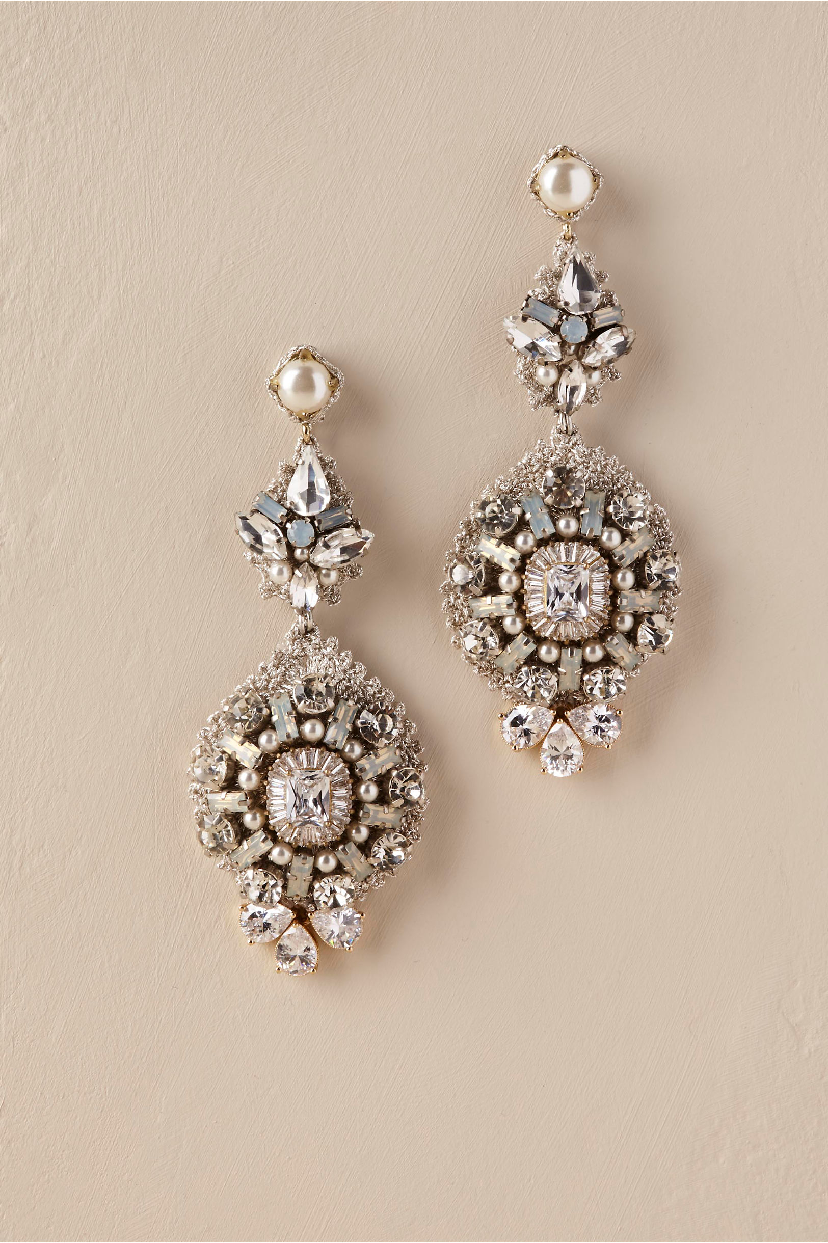 Jewelry for brides wedding jewelry bhldn lynette chandelier earrings junglespirit Image collections