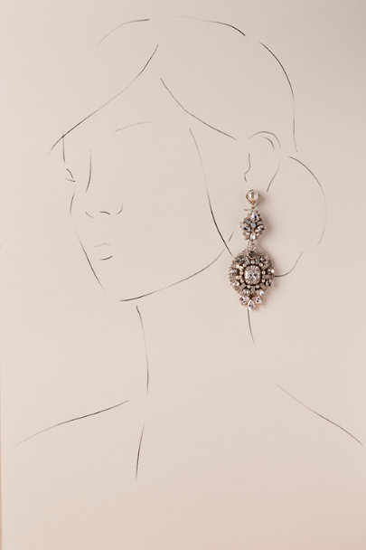 St. Erasmus Silver Lynette Chandelier Earrings | BHLDN