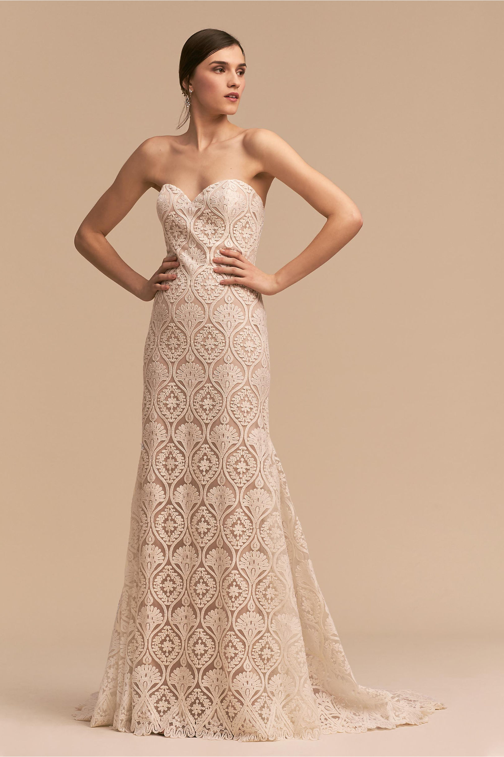 Lilac Gown Ivory/Nude in Sale | BHLDN