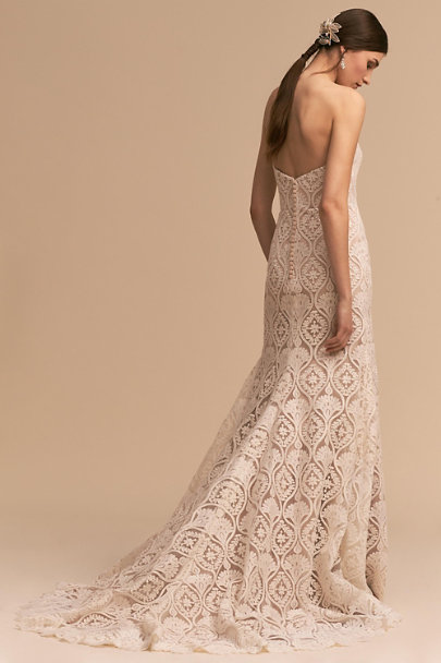 Whispers & Echoes Ivory/Nude Lilac Gown | BHLDN