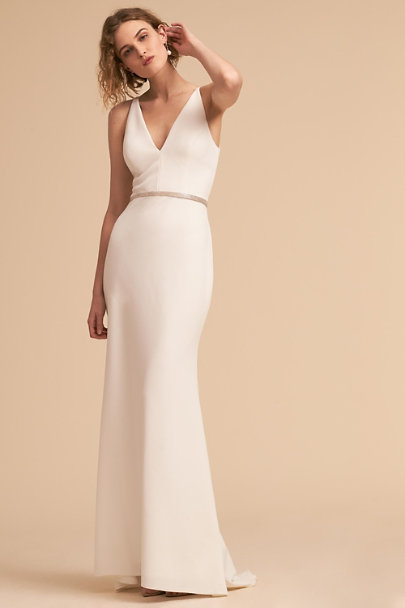 Silver Le Silver Fitted Sash | BHLDN