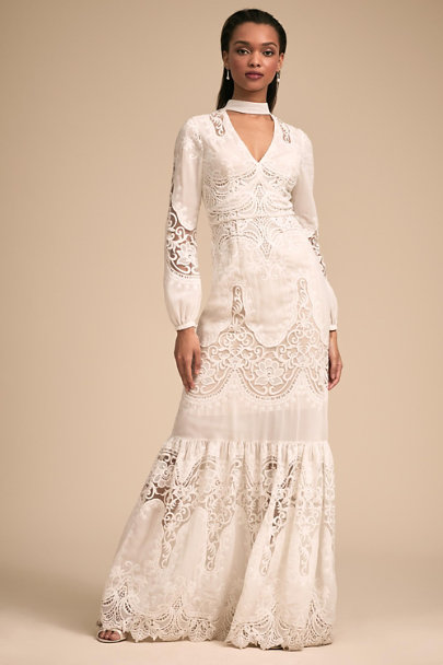 ML Monique Lhuillier Ivory Lyon Dress | BHLDN