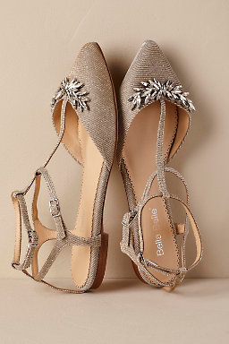 Flat wedding shoes bridal flats bhldn phoebe flat junglespirit