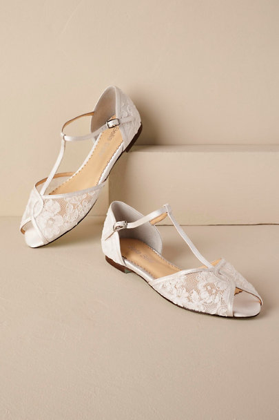 View larger image of Maisie Embroidered T-Strap Flats