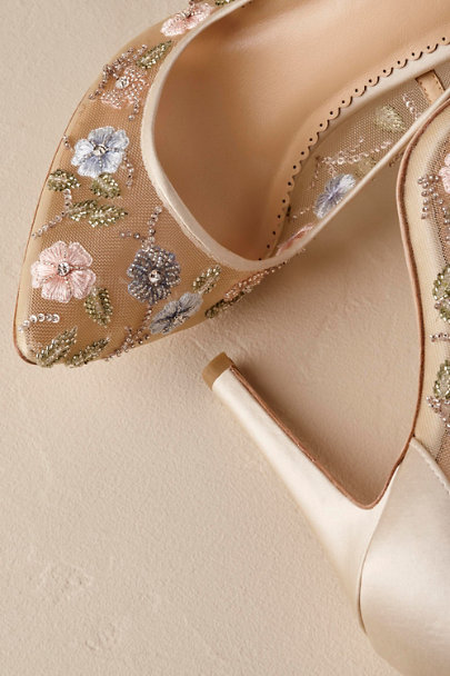Bella Belle Cream Chloe Heels | BHLDN