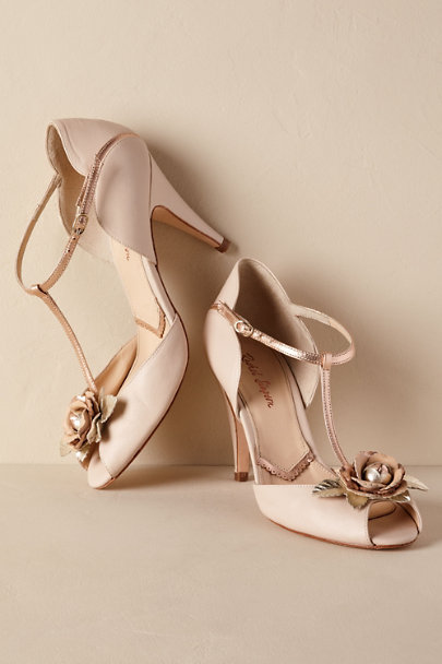 Rachel Simpson Cream Gabrielle Heels | BHLDN