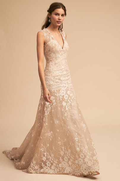Whispers & Echoes Nude Trevi Gown | BHLDN