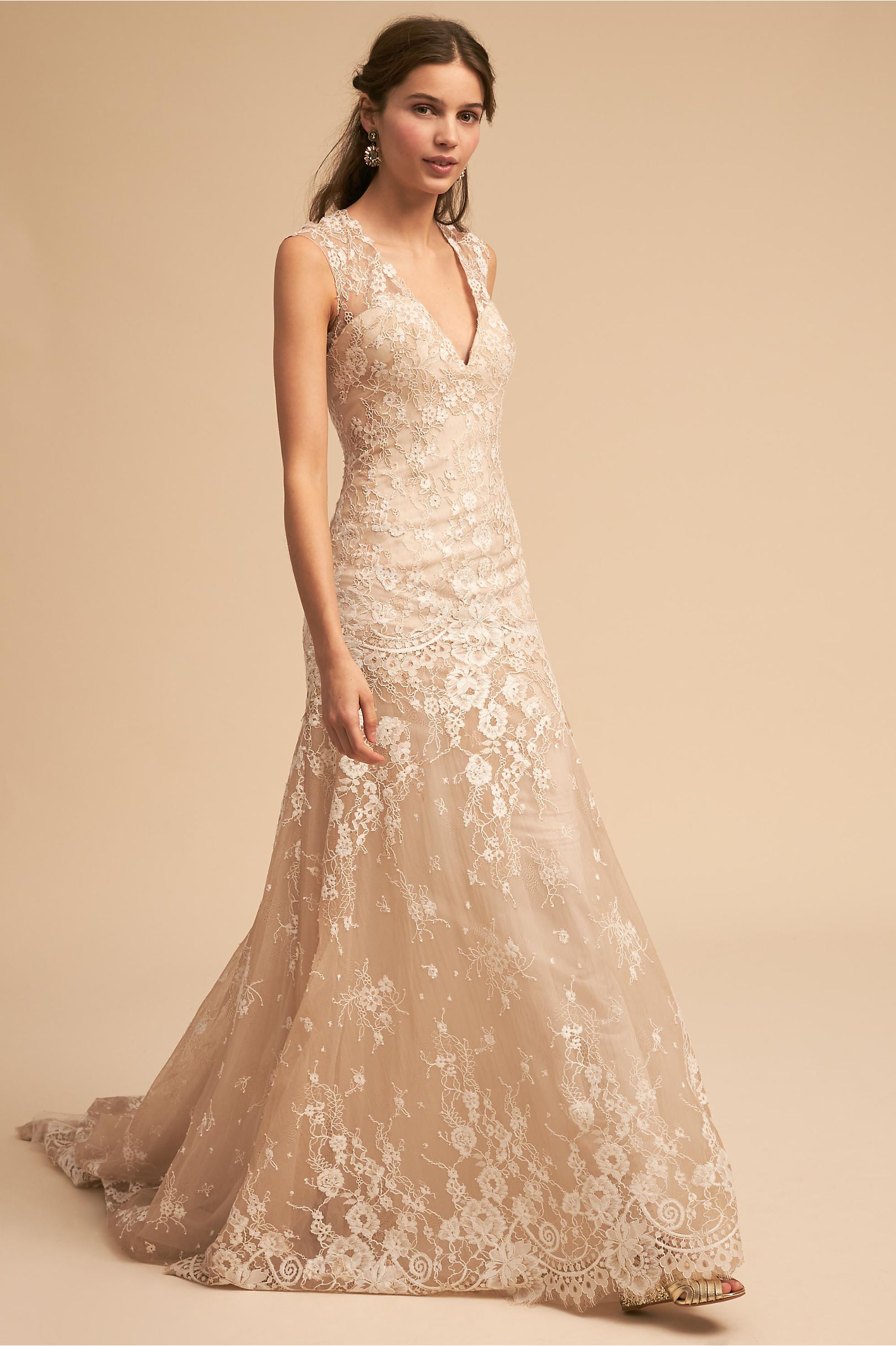Trevi Gown Nude in Sale | BHLDN