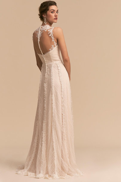 Whispers & Echoes Ivory Nightfall Gown | BHLDN