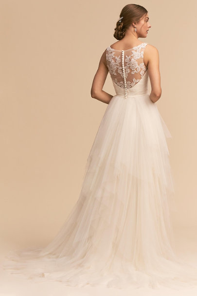 Whispers & Echoes Ivory Majestic Ballgown | BHLDN
