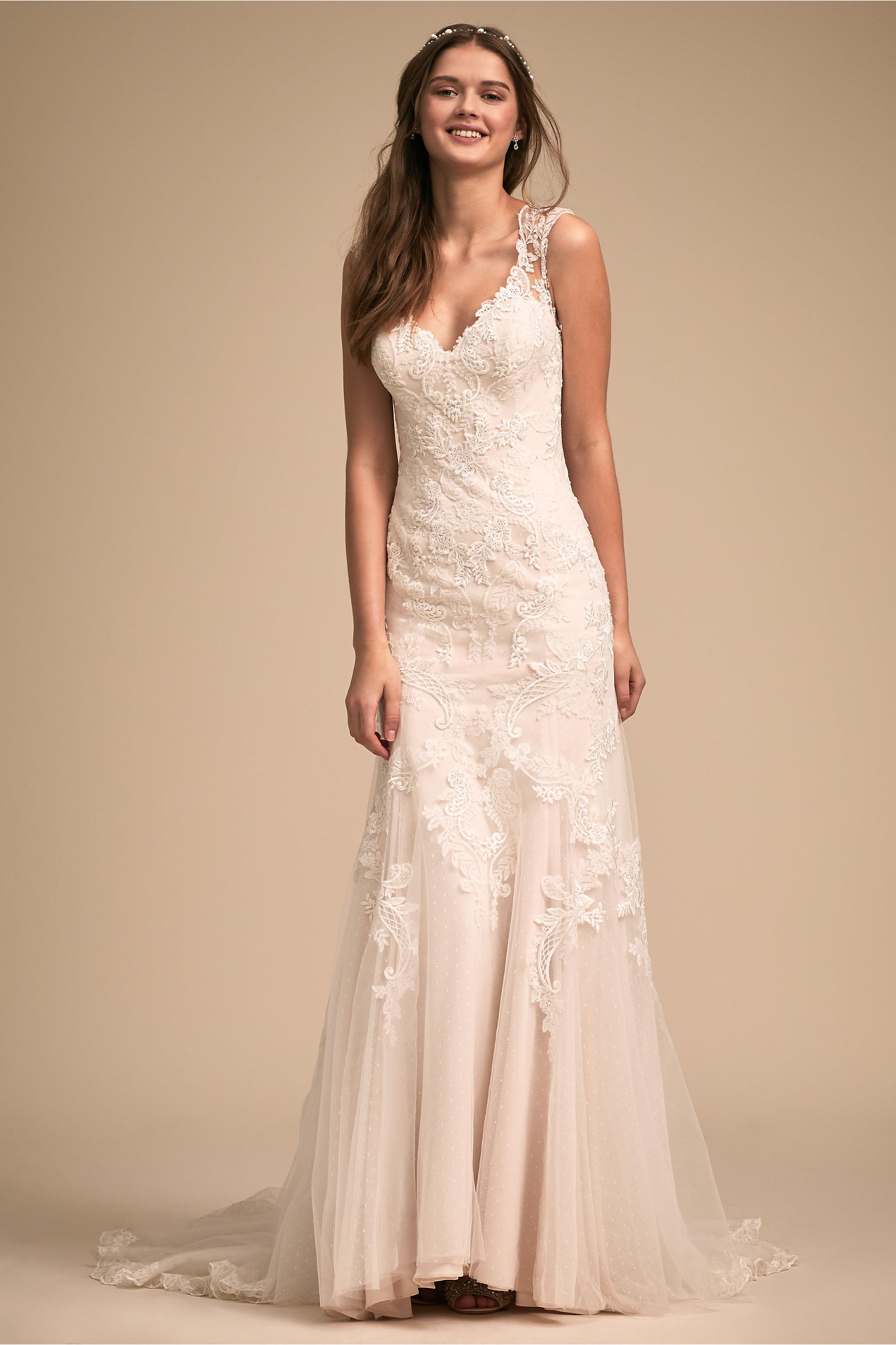 Lure of Lace Gown Ivory in Bride | BHLDN