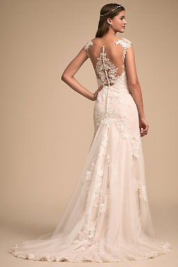 Backless wedding dresses low back wedding gowns bhldn lure of lace gown junglespirit