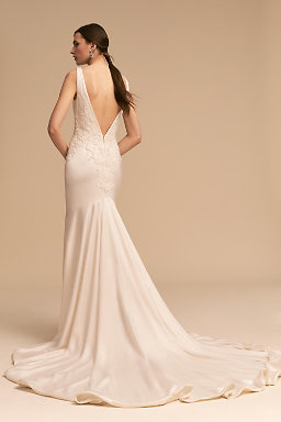 Backless Wedding Dresses & Low Back Wedding Gowns | BHLDN