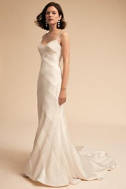 Modern wedding dresses structured gowns bhldn emblem gown junglespirit Choice Image