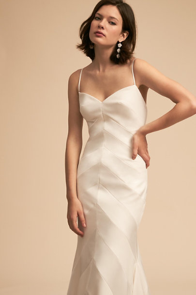 Whispers & Echoes Ivory Emblem Gown | BHLDN