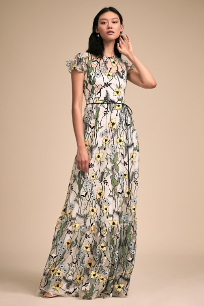 ML Monique Lhuillier Daisy Forsythia Dress | BHLDN