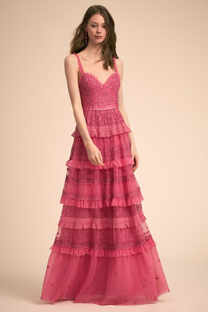 Needle & Thread Hot Pink Laci Dress | BHLDN