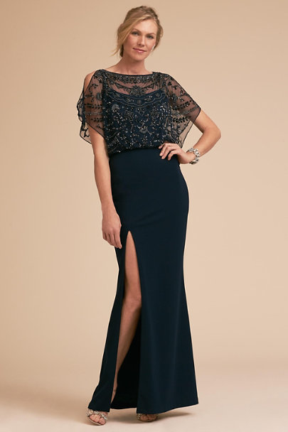 Aidan Mattox Navy Symphony Dress | BHLDN