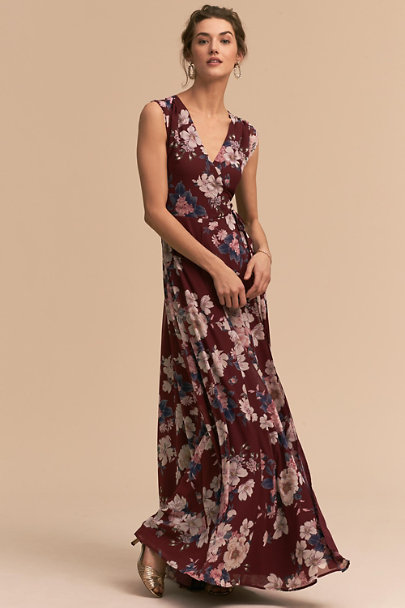 Yumi Kim Amazing Grace Burgundy Sashay Dress | BHLDN