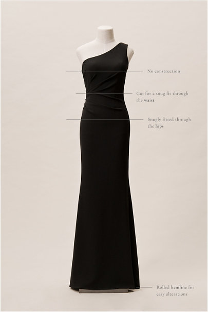 Katie May Black Gwyneth Dress | BHLDN