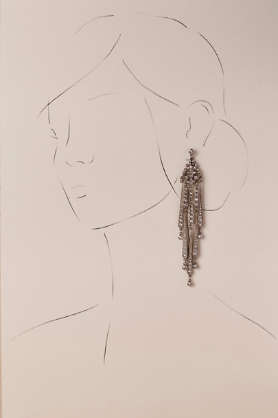 Ben-Amun Silver Tivoli Chandelier Earrings | BHLDN