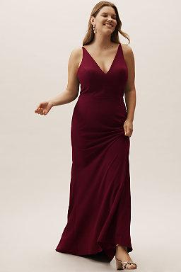 Burgundy Red Wine Colored Bridesmaid Dresses Bhldn