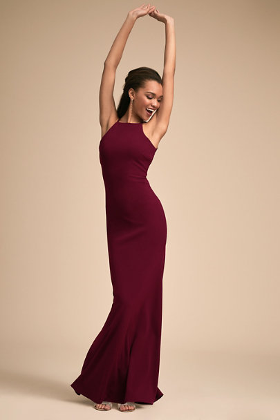 BHLDN Bordeaux Foundry Dress | BHLDN