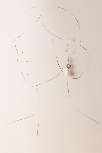 Theia Jewelry Gold Sadie Drop Earrings | BHLDN