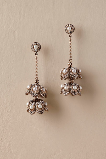 Theia Jewelry Gold Pearla Chandelier Earrings | BHLDN