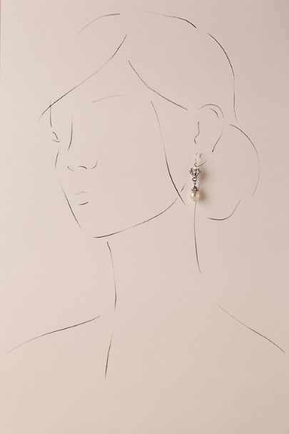Ben-Amun Silver Adelle Drop Earrings | BHLDN
