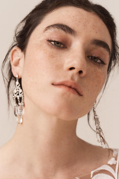 Ben-Amun Silver Maja Chandelier Earrings | BHLDN