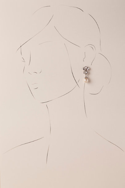 Ben-Amun Silver Dita Drop Earrings | BHLDN