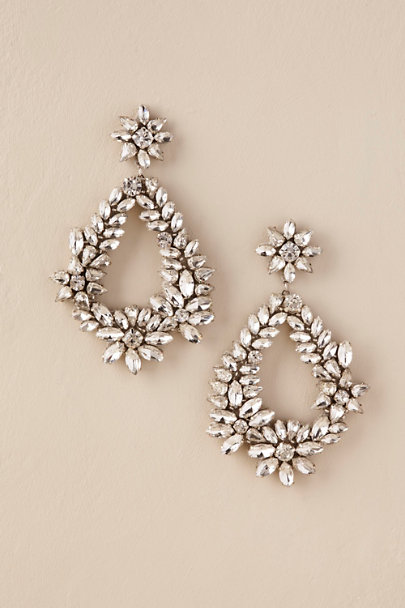 Deepa Silver Brigit Chandelier Earrings | BHLDN
