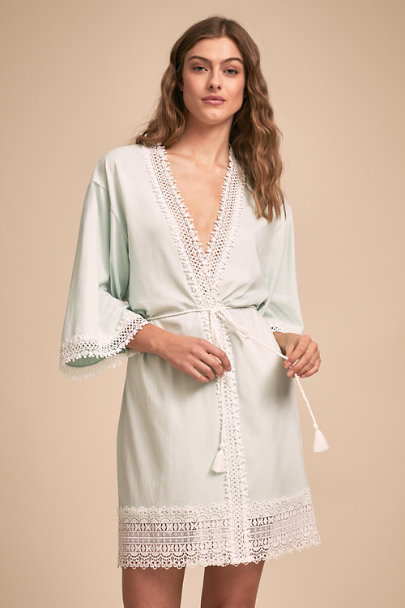 Flora Nikrooz Blue Edie Robe | BHLDN