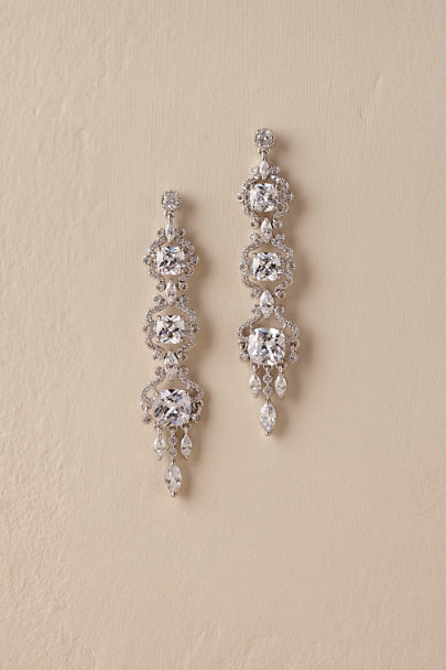 Amy O. Silver Filomena Chandelier Earrings | BHLDN