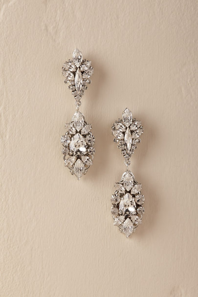 Ti Adoro Silver Ettore Chandelier Earrings | BHLDN