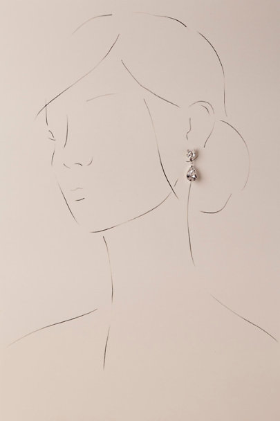 Ti Adoro Silver Whit Earrings | BHLDN