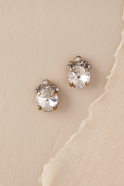 Sorrelli Gold Looking Glass Studs | BHLDN