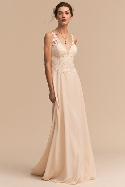 Whispers & Echoes Ivory Kirsten Gown | BHLDN
