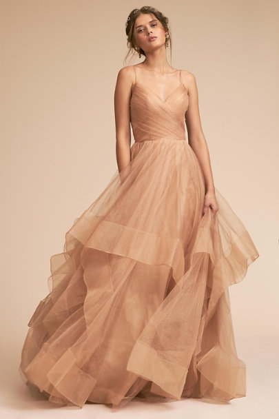 BHLDN Gold Chantelle Dress | BHLDN