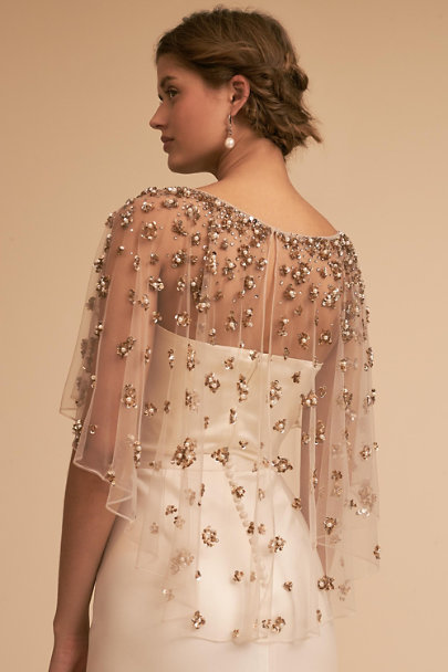 Terani Couture Nude Palmer Cape | BHLDN