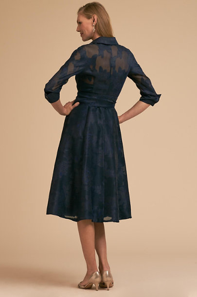 Teri Jon Navy Marta Dress | BHLDN