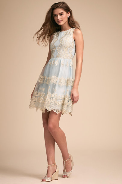 BHLDN Celestial Blue Flourish Dress | BHLDN