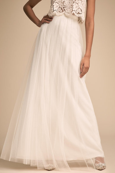 Jenny Yoo Ivory Louise Tulle Skirt | BHLDN