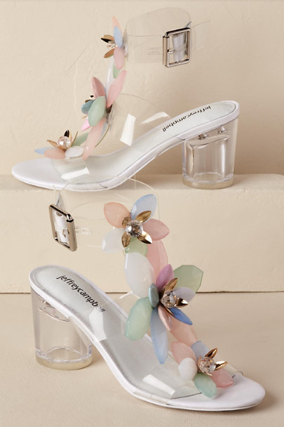 Jeffrey Campbell Clear Pastel Multi Viola Heel | BHLDN