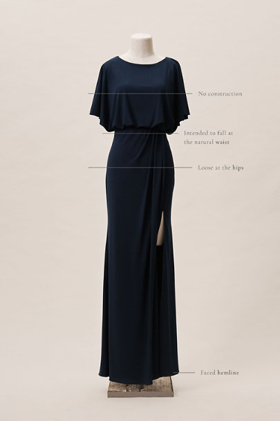BHLDN Navy Lena Dress | BHLDN