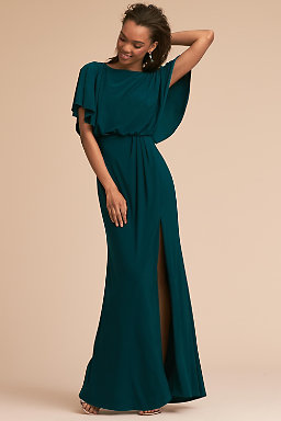 Dark Emerald Black Lena Dress