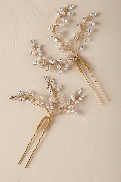 Twigs & Honey Gold Leaflet Pin | BHLDN