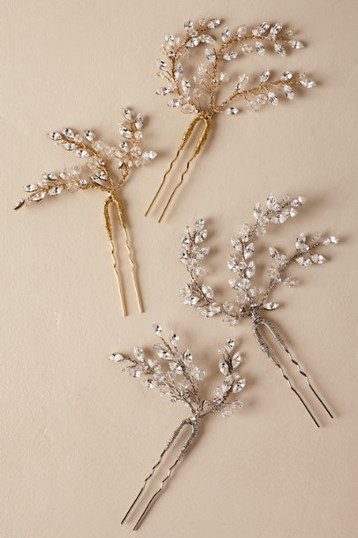 Twigs & Honey Silver Leaflet Pin | BHLDN
